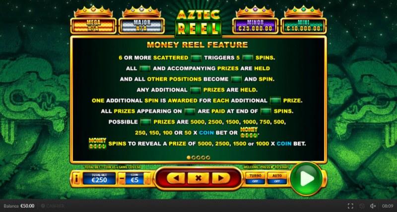 Aztec Reel :: Money Reel Feature