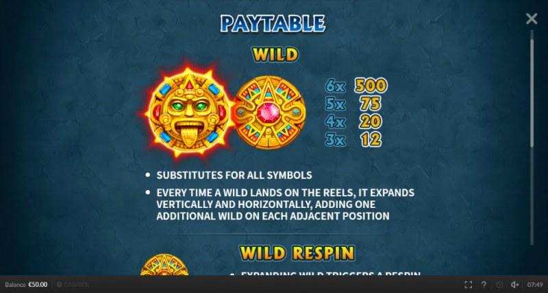 Aztec Respin :: Wild Symbols Rules