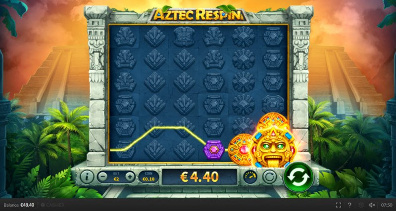 Aztec Respin :: Respin leads to an additional payout