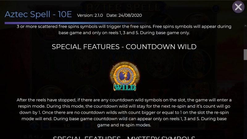 Aztec Spell 10 Lines :: Countdown Wild