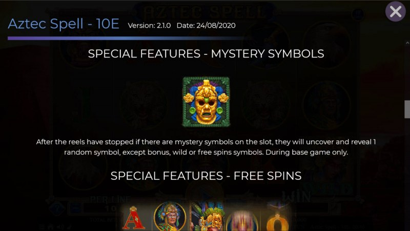 Aztec Spell 10 Lines :: Mystery Symbol
