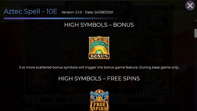 Aztec Spell 10 Lines :: Bonus Symbol