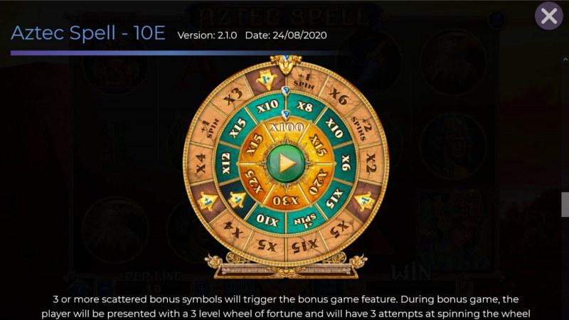 Aztec Spell 10 Lines :: Bonus Feature