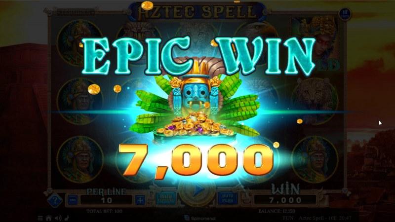 Aztec Spell 10 Lines :: Epic Win