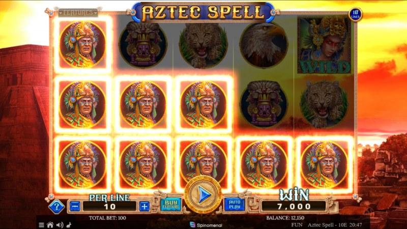 Aztec Spell 10 Lines :: Multiple winning paylines