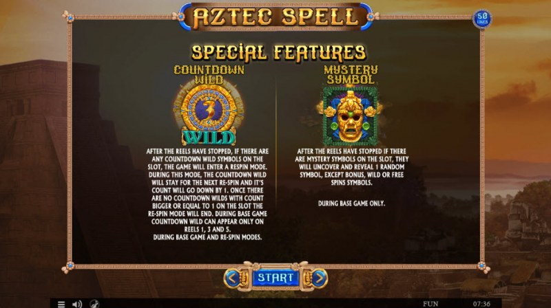 Aztec Spell :: Feature Rules