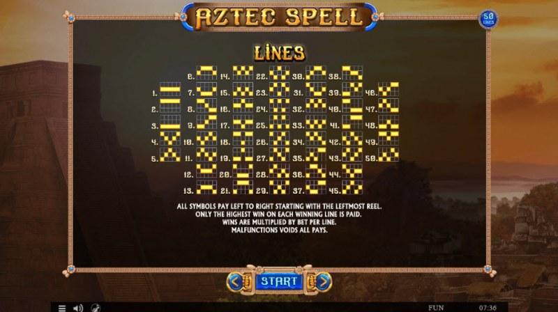 Aztec Spell :: Paylines 1-100
