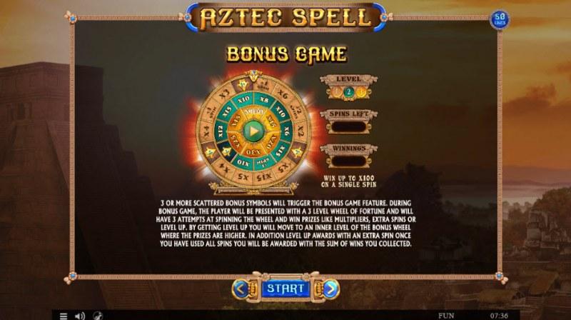 Aztec Spell :: Bonus Game Rules