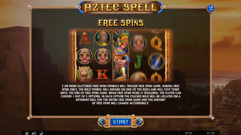 Aztec Spell :: Free Spins Rules