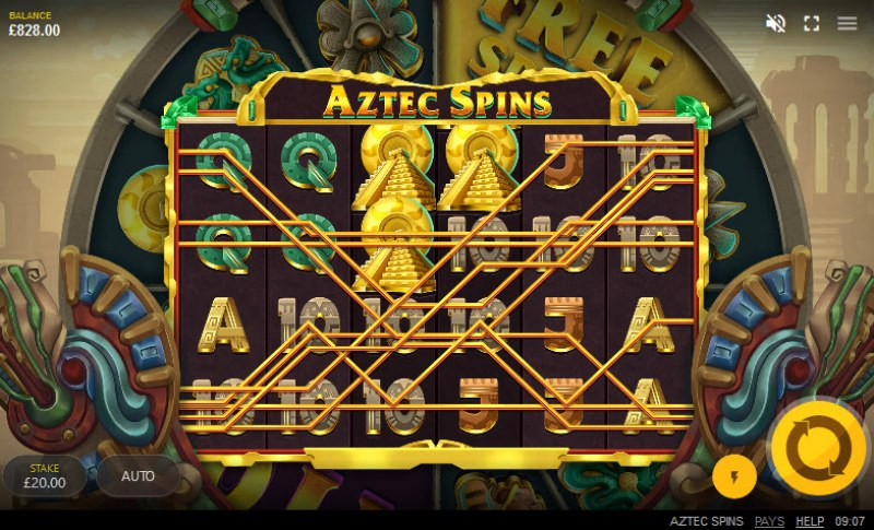 Aztec Spins :: Multiple winning combinations