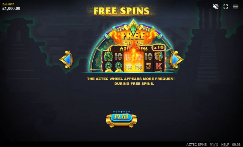 Aztec Spins :: Free Spins Rules
