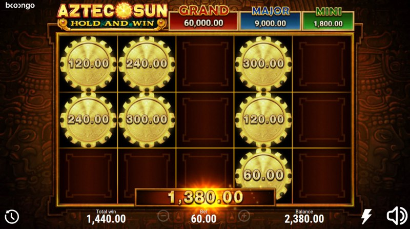 Aztec Sun Hold and Win :: Total Feature Payout