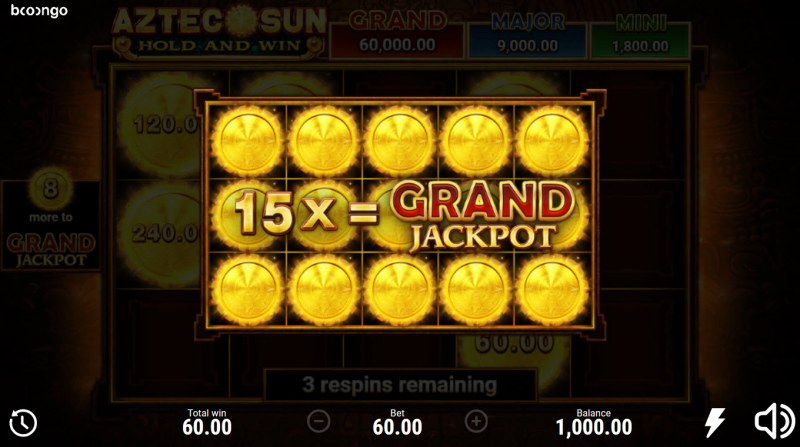 Aztec Sun Hold and Win :: Fill the reels with as many money symbols and win big