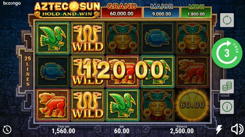 Aztec Sun Hold and Win :: Multiple winning paylines