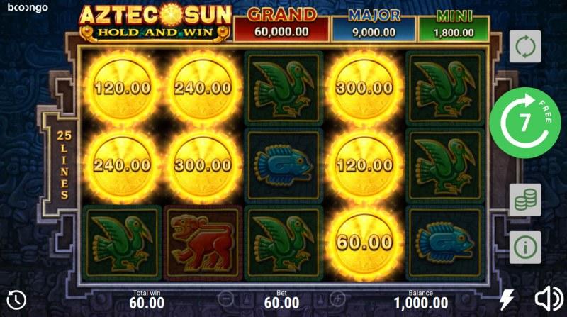 Aztec Sun Hold and Win :: Bonus game triggered