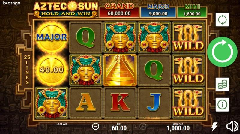 Aztec Sun Hold and Win :: Main Game Board