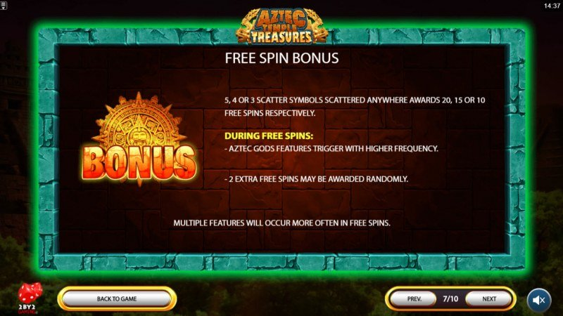 Aztec Temple Treasures :: Free Spins Rules