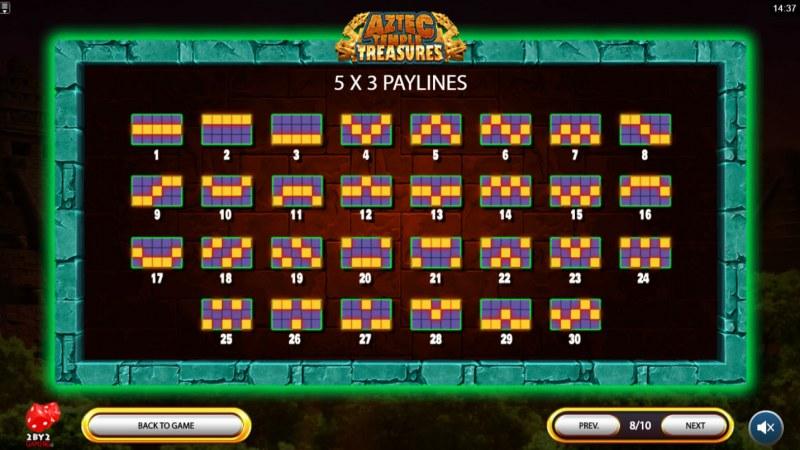 Aztec Temple Treasures :: Paylines 1-30