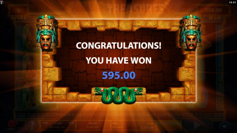 Aztec Temple Treasures :: Total free spins payout