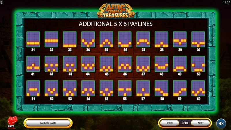 Aztec Temple Treasures :: Paylines 31-60