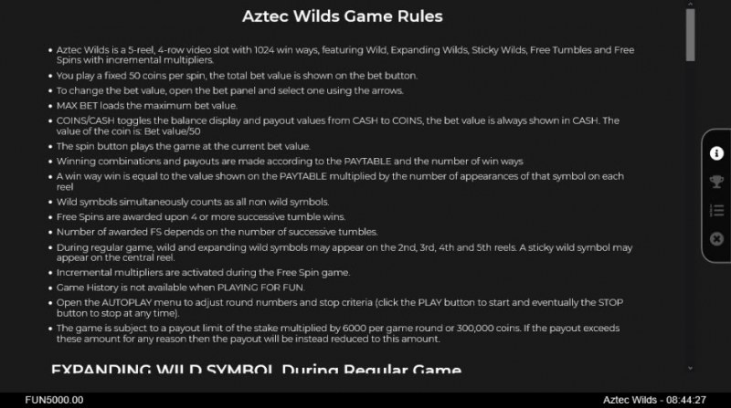 Aztec Wilds :: General Game Rules
