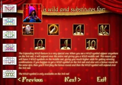 Solara featuring the Video Slots Abra Cadabra with a maximum payout of $2,500