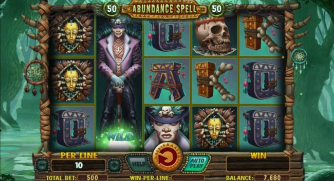 ZigZag777 featuring the Video Slots Abundance Spell with a maximum payout of $8,000
