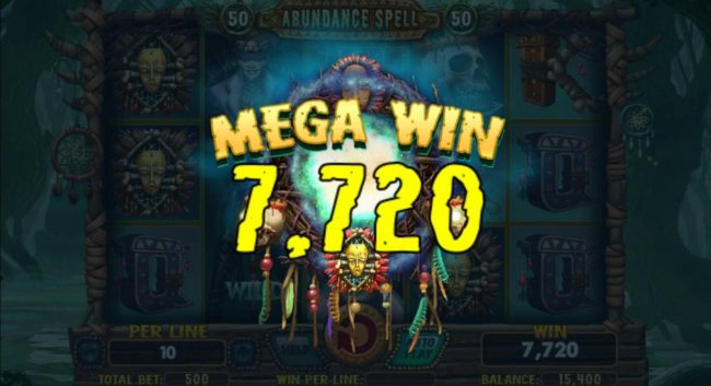 Play 24 Bet featuring the Video Slots Abundance Spell with a maximum payout of $8,000