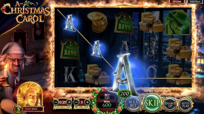 Kingbit Casino featuring the Video Slots A Christmas Carol with a maximum payout of $2,565,000