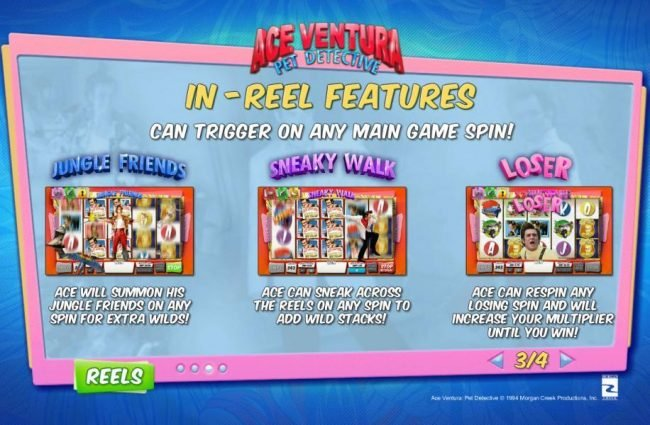 Royal Dice featuring the Video Slots Ace Ventura Pet Detective with a maximum payout of $20,000
