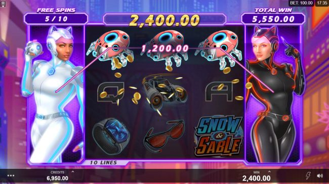 River Belle featuring the Video Slots Action Ops Snow & Sable with a maximum payout of $100,000