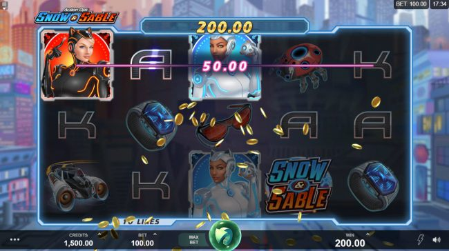 Royal Vegas featuring the Video Slots Action Ops Snow & Sable with a maximum payout of $100,000