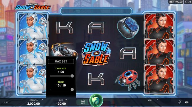 18 Bet featuring the Video Slots Action Ops Snow & Sable with a maximum payout of $100,000
