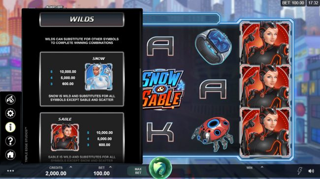 Caribic featuring the Video Slots Action Ops Snow & Sable with a maximum payout of $100,000