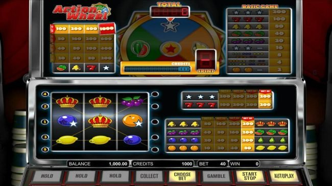 Play slots at Carbon Casino: Carbon Casino featuring the Video Slots Action Wheel with a maximum payout of $1,000