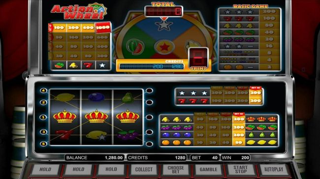 Orientxpress featuring the Video Slots Action Wheel with a maximum payout of $1,000