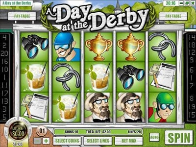 Mayan Fortune featuring the Video Slots A Day at the Derby with a maximum payout of $6,250