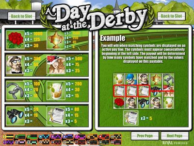 Winbig21 featuring the Video Slots A Day at the Derby with a maximum payout of $6,250