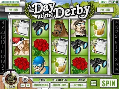 Desert Nights Rival featuring the Video Slots A Day at the Derby with a maximum payout of $6,250