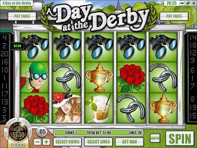 Planet Kings featuring the Video Slots A Day at the Derby with a maximum payout of $6,250