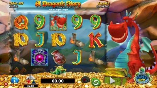 Mega Casino featuring the Video Slots A Dragon's Story with a maximum payout of $125,000