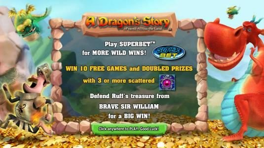 Norske Casino featuring the Video Slots A Dragon's Story with a maximum payout of $125,000