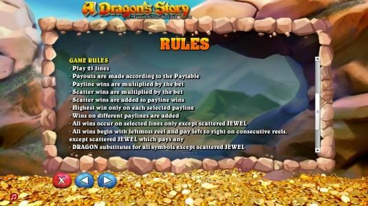Egypt Slots featuring the Video Slots A Dragon's Story with a maximum payout of $125,000