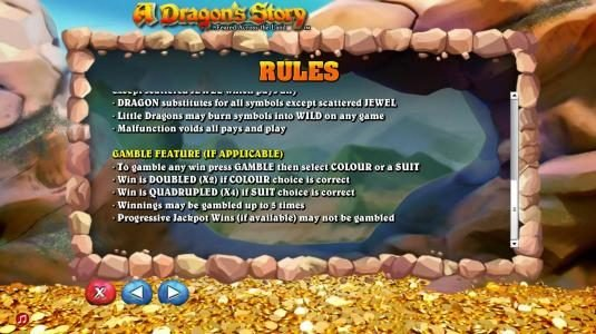 Gamble feature rules.