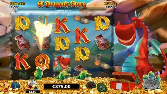 Aztec Ritces featuring the Video Slots A Dragon's Story with a maximum payout of $125,000