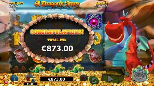 All Wins Casino featuring the Video Slots A Dragon's Story with a maximum payout of $125,000