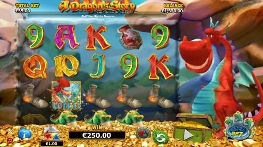 EU Casino featuring the Video Slots A Dragon's Story with a maximum payout of $125,000