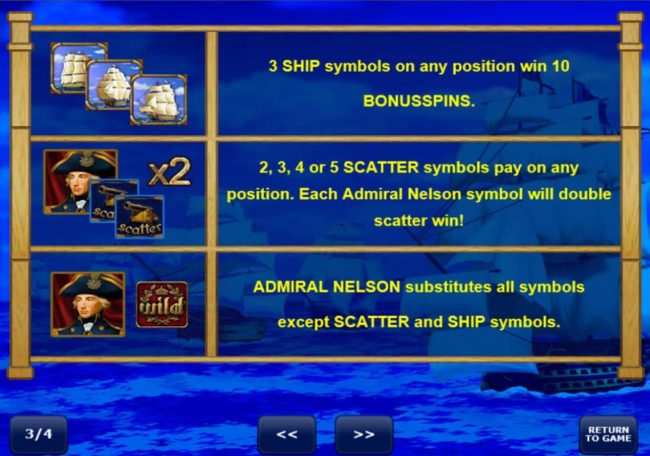 Play slots at CryptoWild: CryptoWild featuring the Video Slots Admiral Nelson with a maximum payout of $250,000