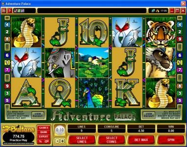 Spin Hill featuring the Video Slots Adventure Palace with a maximum payout of $50,000
