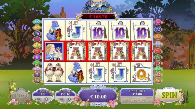 Adventures In Wonderland :: A winning Five of a Kind